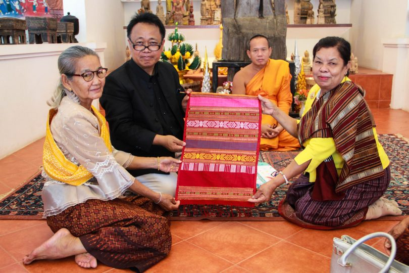 KKU receives ancient Isan silk for conservation and future creative development